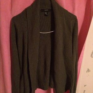 Forever 21 charcoal cardi